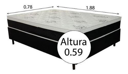 sommier somier colchón 1 plaza 59 cm 150 kg summer 0.80