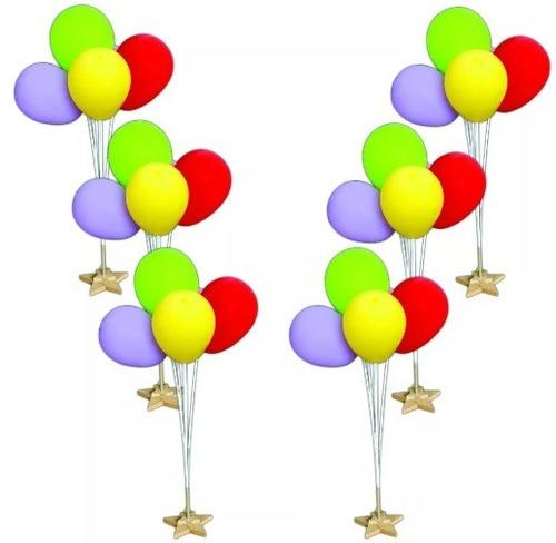soporte 5 globos  decoración fiestas cumpleaños