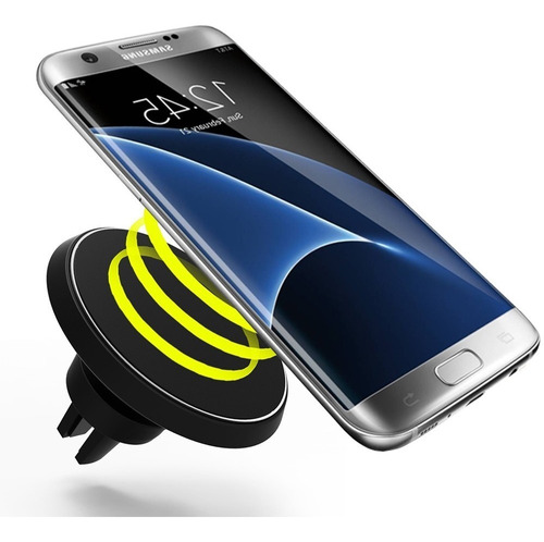 soporte cargador qi inalambrico vehículo samsung iphone ®