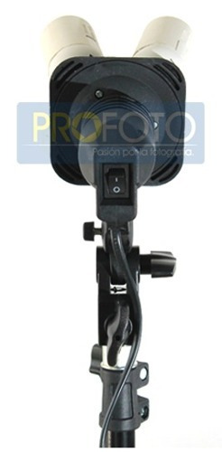 soporte con 4 sockets para lampara y sombrilla foto y video