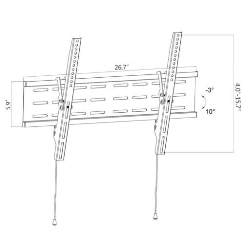 soporte de pared led lcd plasma soporte de tv de la inclinac
