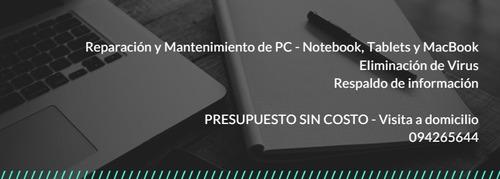 soporte informatico pc / notebook / tablet / redes / macbook
