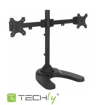 soporte lcd / led de 13  a 24  doble techly