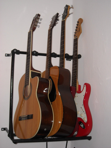 soporte o atril de guitarra para amurar a la pared