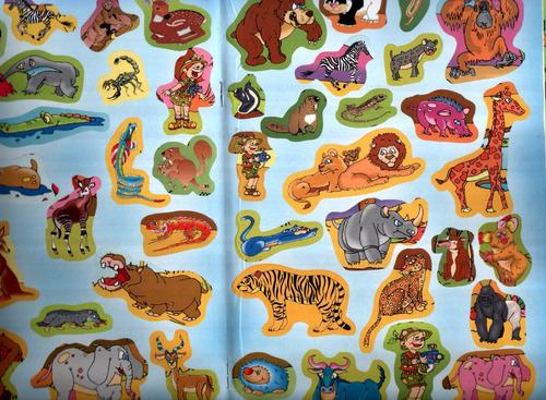 sorpresitas cumpleaños libro pegotines de animales color