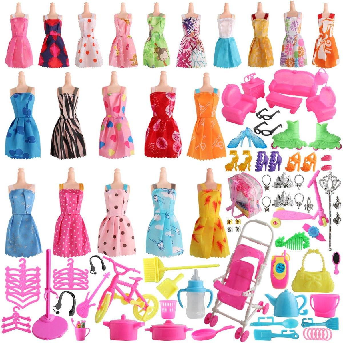 bcb29cfc98fc Sotogo Pc 125 Muñeca Barbie Ropa Juego Incluye 20 Pack Ba - U S 47 ...