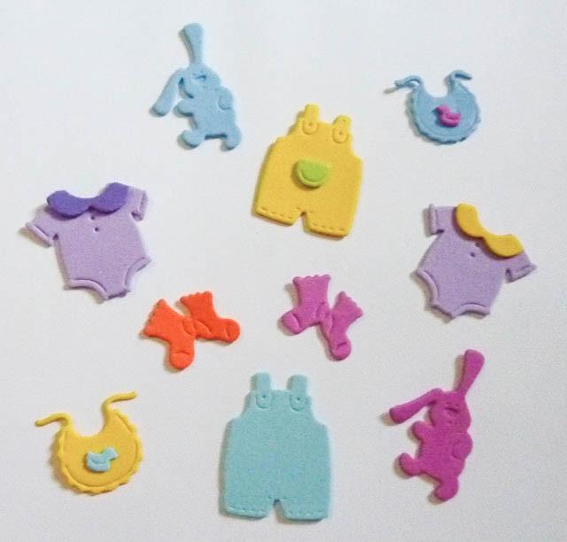 Souvenir Bebe Baby Shower Bautismo Decoracion Nacimiento 22000 - Bebe-de-goma-eva