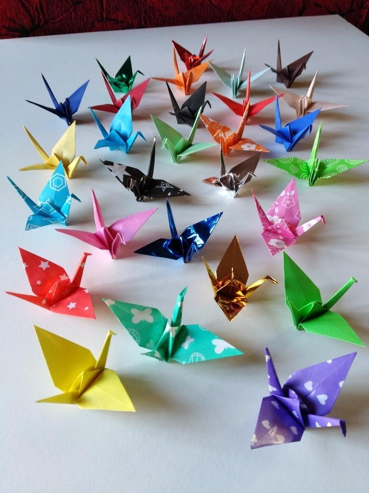 Souvenir Decoración Origami Grulla Símbolo De Paz
