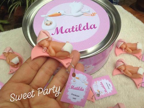 souvenirs baby shower o nacimiento en porcelana fría