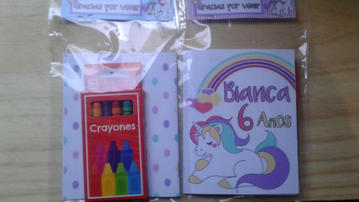 Souvenirs Mini Libro Unicornio Colorear Libritos Sorpresitas - $ 25 ...