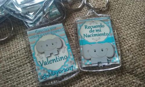 souvenirs nacimiento llaveros personalizados elefantito