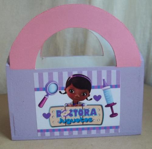 souvenirs valija/carterita dra. juguetes o princesita sofia!
