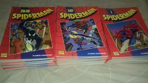 spiderman, coleccionable rojo (planeta) completo, 50 números