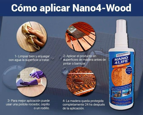spray protector madera nano4life 15 m2