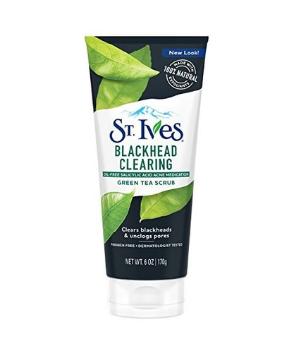 st. ives blackhead clearing face scrub, té verde, 6 oz