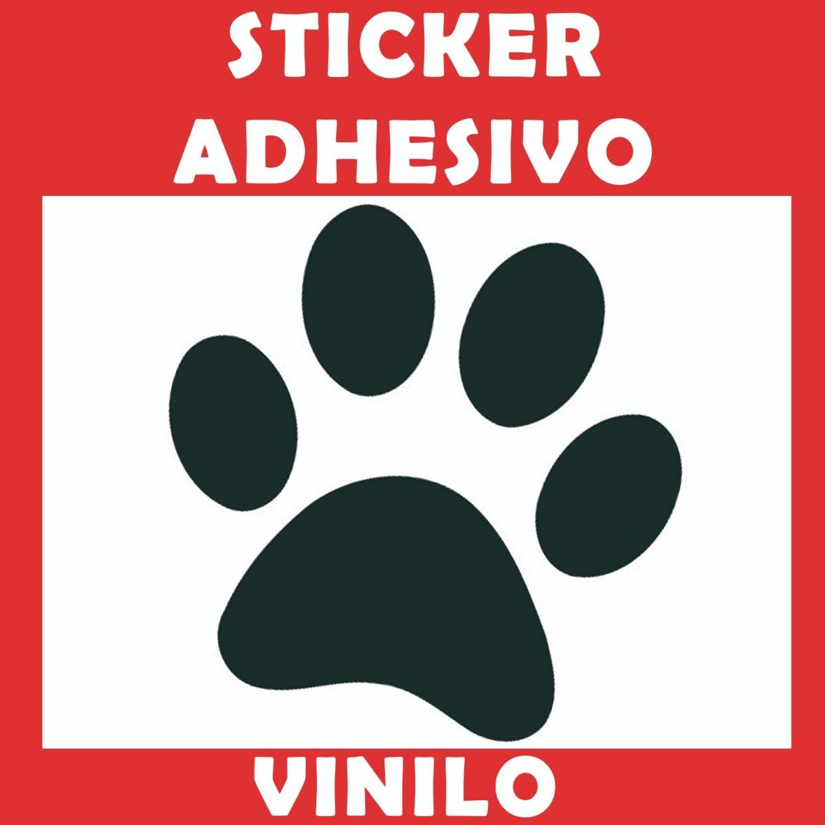 Sticker Adhesivo Huella Perro Varios Colores 6000 En Mercado Libre