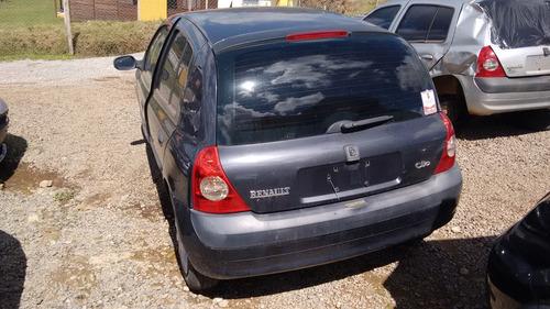 sucata renault clio 2004 1.0 gasolina - rs peças