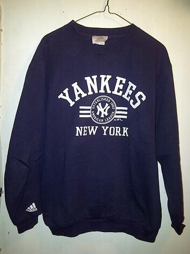 sudadera adidas new york yankees marino