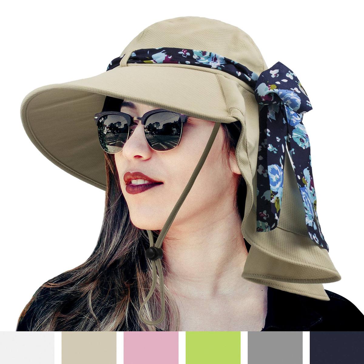 0242a75e4 sun cube sombrero de verano plegable para mujer con ala a. Cargando zoom.