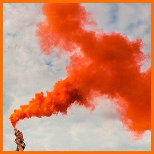 super bengala bomba de humo naranja fuegos artificiales