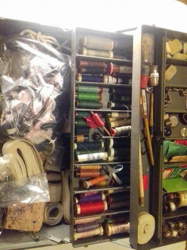 super lote caja costura hilos y varios subasta p150921