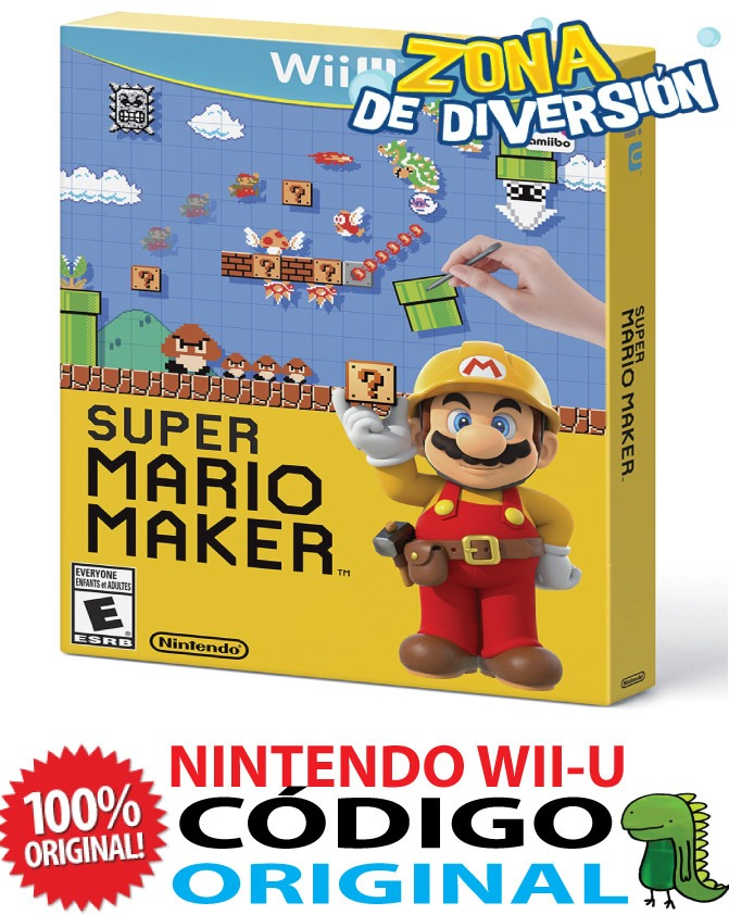Super Mario Maker Codigo Original Descarga Wii U 2 299 00 En
