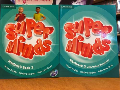 super minds 3 - sb book & workbook+grammar booklet cambridge