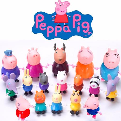super pacote c/ 17 miniaturas da turma da peppa pig