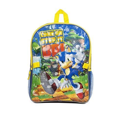 ¡super sonic thumbs up! 16 mochila con el kit de almuerzo