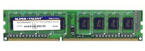 super talent ddr3 1333 2 gb 256x8 cl9 value memory