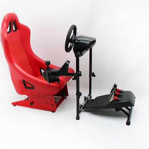suporte p/volante águia v3, 100% estável,(cockpit simulador)