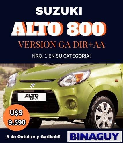 suzuki alto 800 ga / 0 km / dir + a.ac./  entrega inmediata!