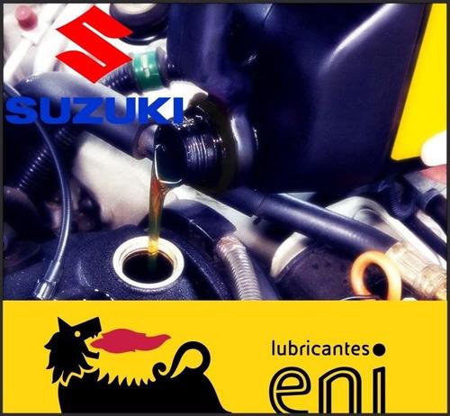 suzuki cambio de aceite 10w 40 eni y filtro