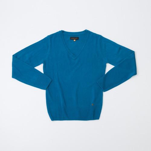 sweater dama básico escote en v alaska