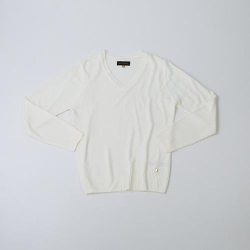 sweater dama básico escote en v crudo