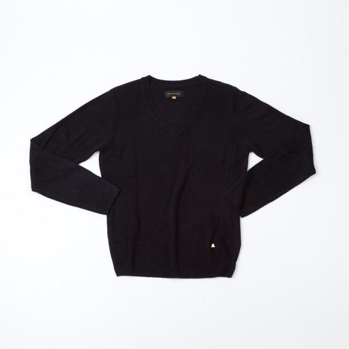 sweater dama básico escote en v negro