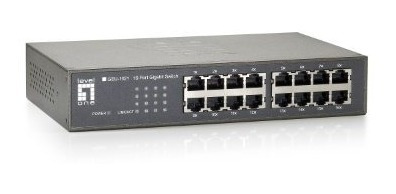 switch levelone geu-1621 16-port gigabit desktop switch