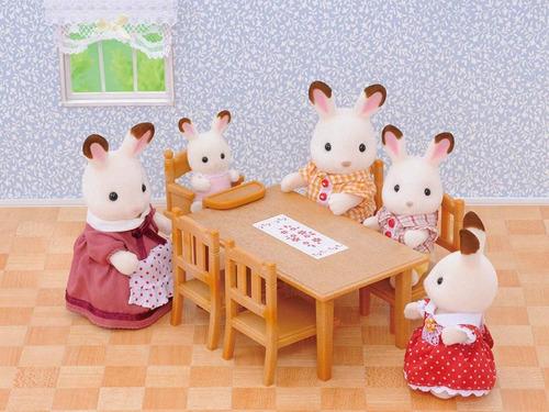 sylvanian families conjunto mesa y silla juego de cocina ®