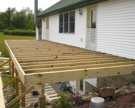 Tabla De Deck Construcción Terrazas En Madera Cabañas