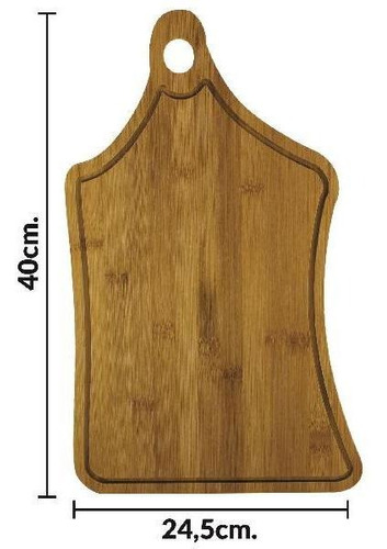 tabla de madera con mango 40 x 24.5 cm