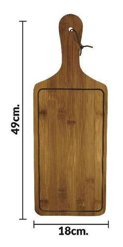 tabla de madera con mango y cuerda 49 x 18 cm