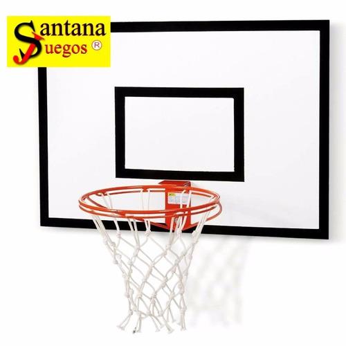 tablero para basquet para interior 91x65cm aro de 40cm