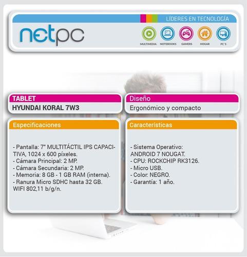 tablet hyundai koral 7w3 - netpc
