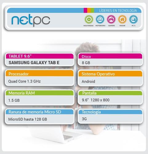 tablet samsung galaxy tab e - netpc