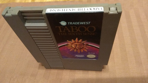 taboo, juego original nintendo nes