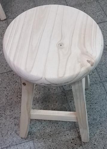 taburete  banco de madera rustico muy práctico!!!