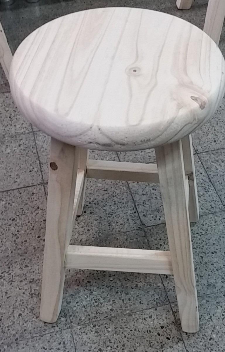 Taburete banco de madera rustico muy pr ctico 399 00 en mercado libre - Banco de madera rustico ...