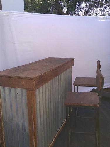 taburetes barras livins sillas mesas vajilla carpas