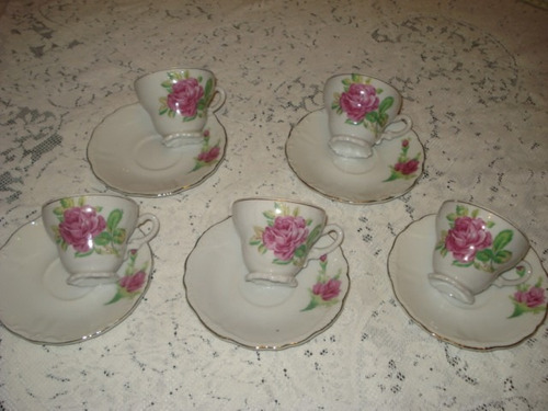tacitas para decoracion japonesa con rosas