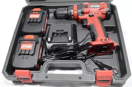 taladro atornillador inalambrico 20v maletin 2 bateria litio